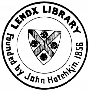 Lenox Library label art