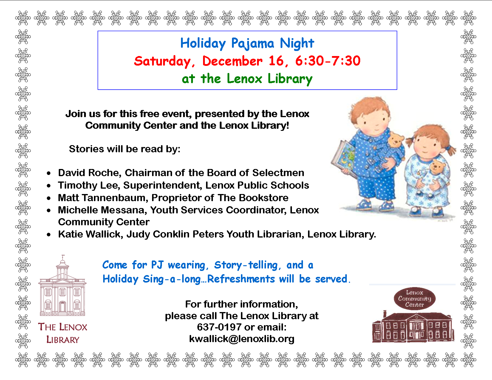 Holiday Pajama Night