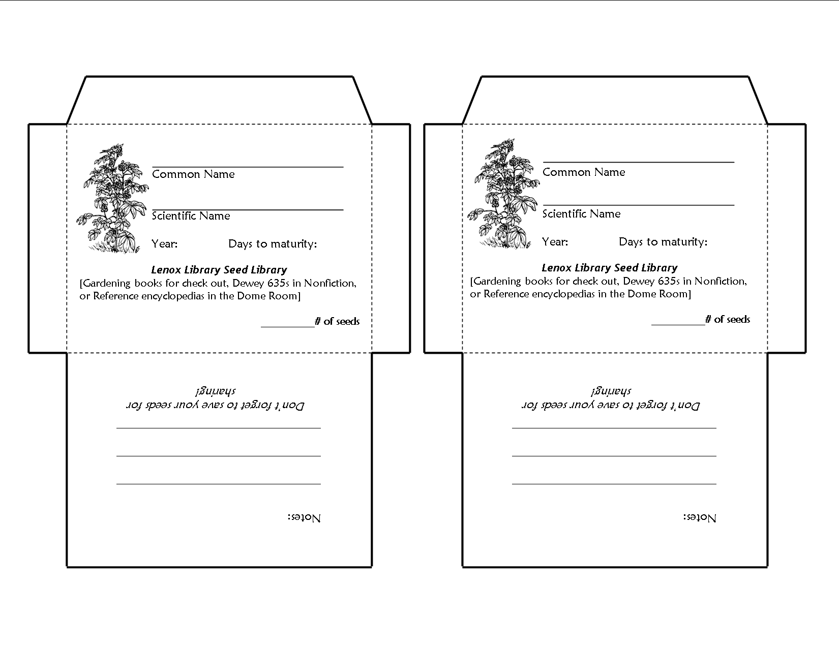 blank seed packet template - amazing seed packet templates embellishment example