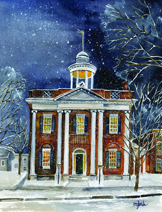 """Snowy Night in Lenox"""